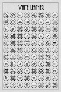 White Leather Icon Pack Theme v1.7.0