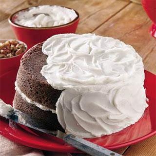 Chocolate Velvet Cake With Vanilla Buttercream Frosting.