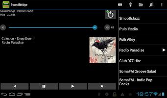 Screenshot of Remote for SoundBridge