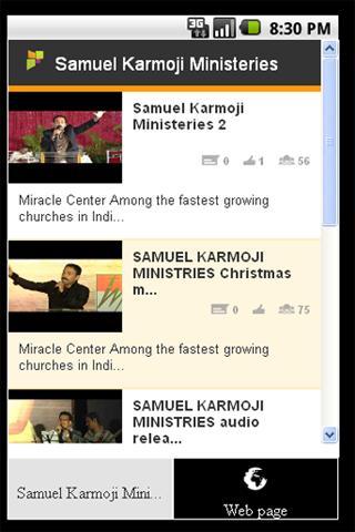 Samuel karmoji Ministeries