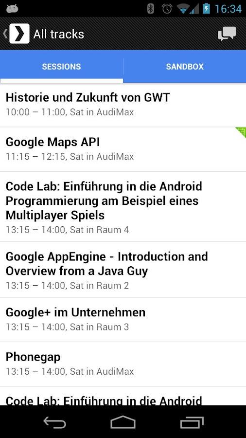 GDG DevFest 2012 Karlsruhe - screenshot