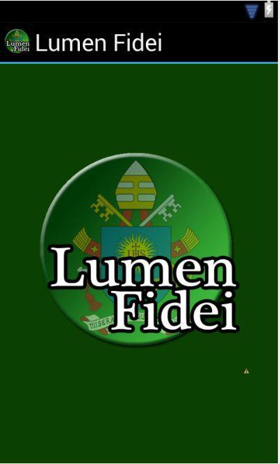Encíclica Lumen Fidei- screenshot