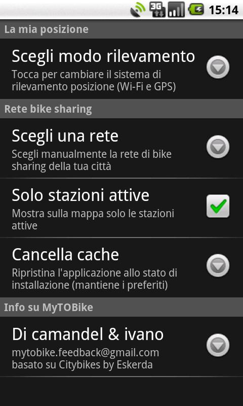 MyTOBike - screenshot
