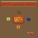 Sixth grade math icon