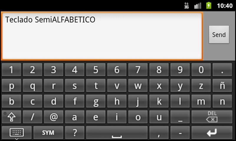 Teclado rápido Semi ALFABÉTICO- screenshot