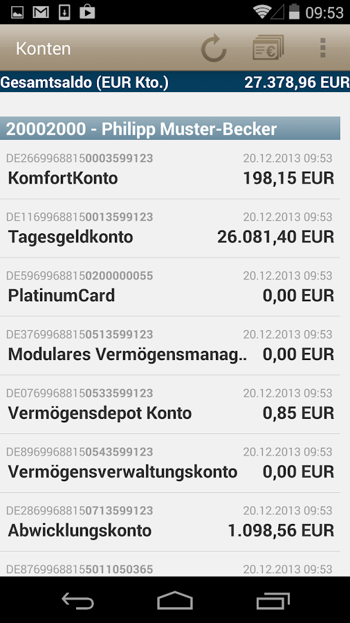MLP Financepilot - screenshot