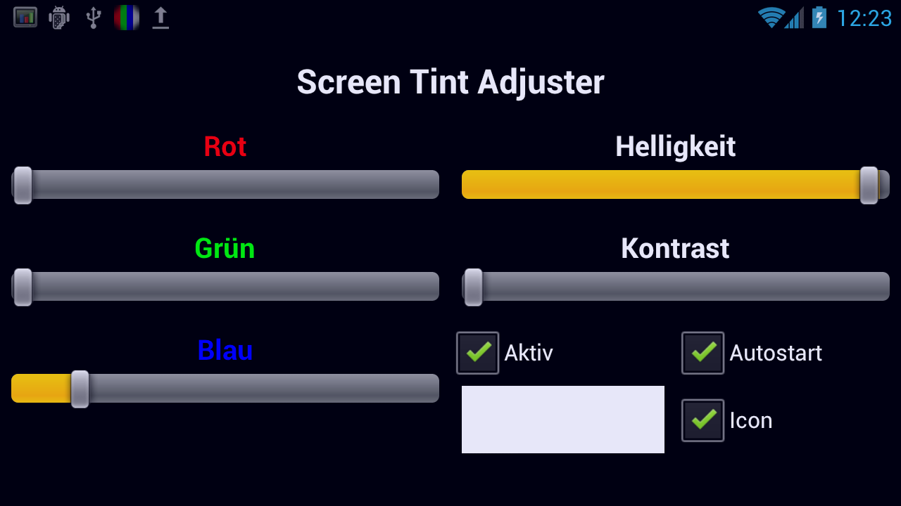 Screen Tint Adjuster- screenshot
