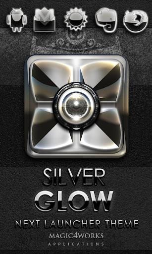Next Launcher Theme Silver G