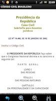 Screenshot of Código Civil Brasileiro GRÁTIS