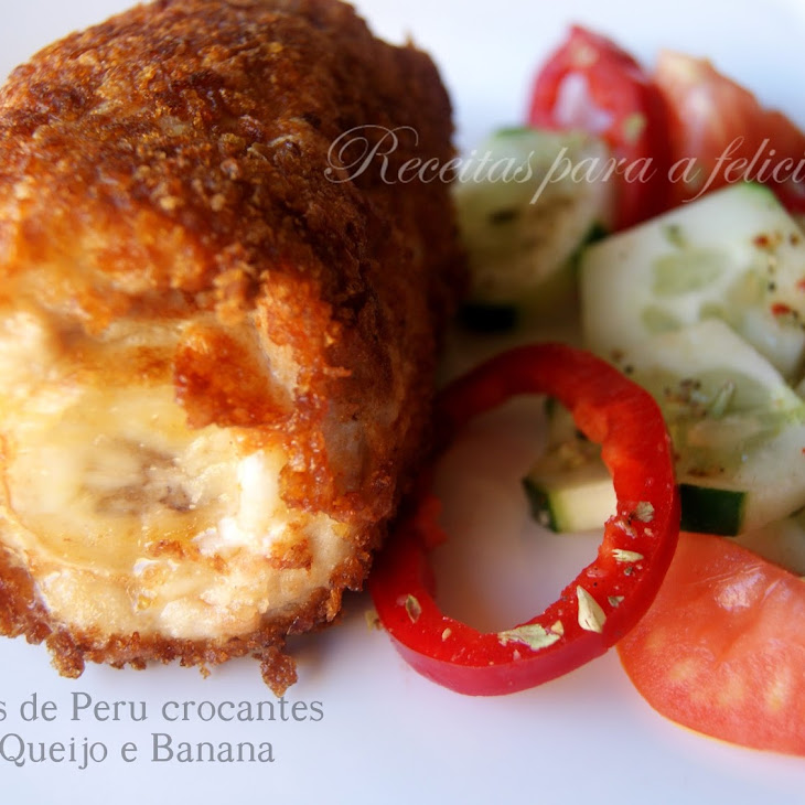 Crunchy Turkey Fillets with Cheese and Banana