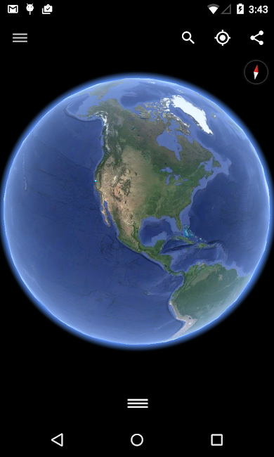 #1. Google Earth (Android)