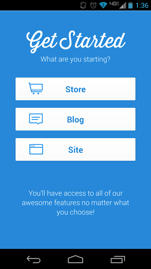 Weebly - screenshot