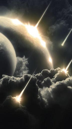 雲と流れ星