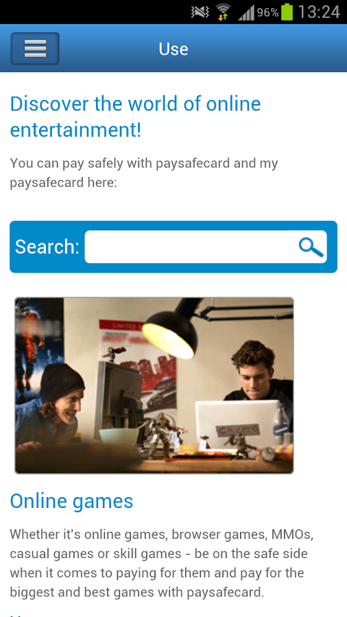 paysafecard via handy