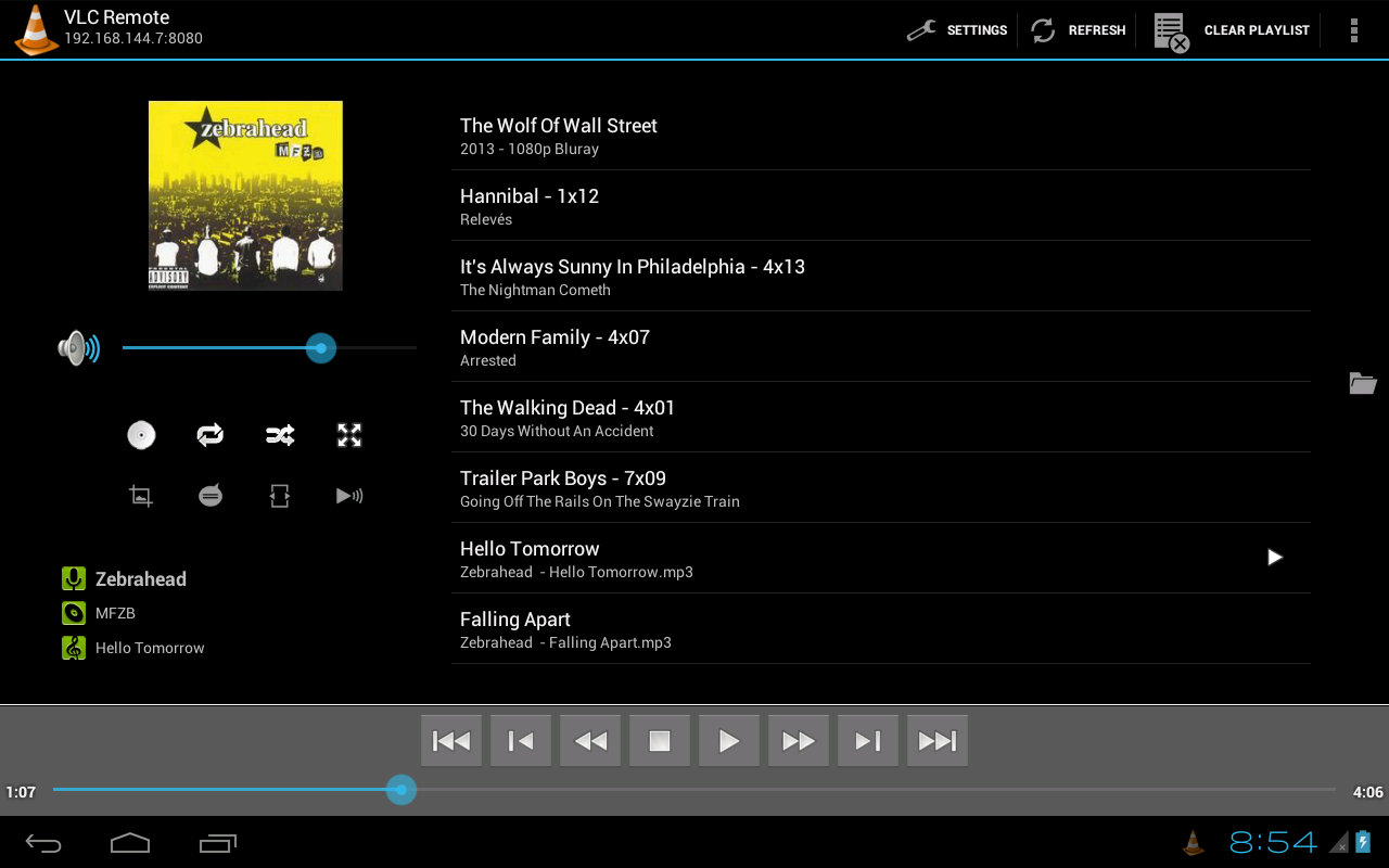 Remote for VLC (Stream Fork)- screenshot