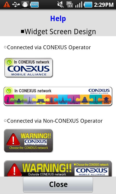 CONEXUS NW Select Application - screenshot