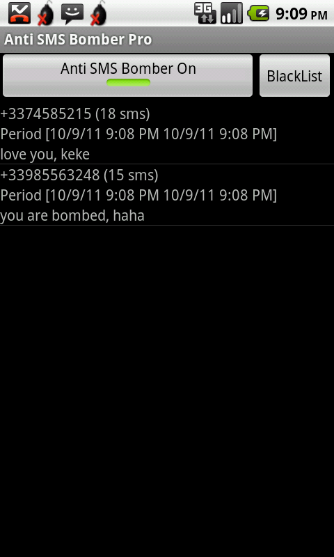 Anti SMS Bomber Pro - screenshot