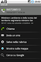 Screenshot of infoCall