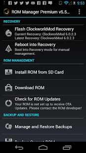 ROM Manager – Miniaturansicht des Screenshots
