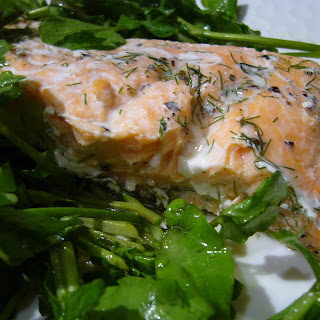 Salmon with Watercress and Sorrel Salad