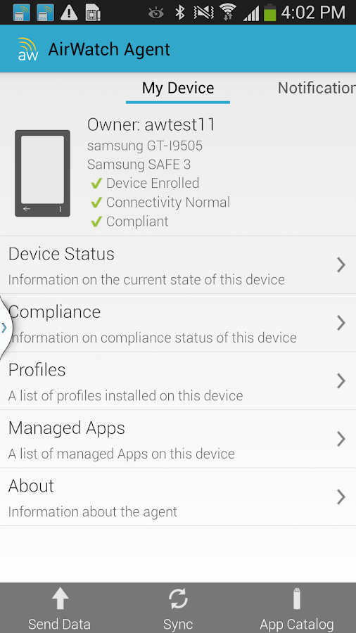 AirWatch MDM Agent - screenshot