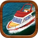 cabin cruiser 3D boat sim game icon