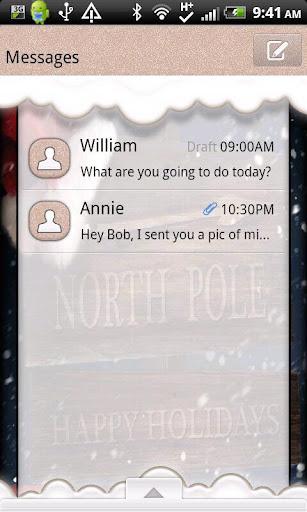 【免費個人化App】GO SMS THEME/NorthPole-APP點子