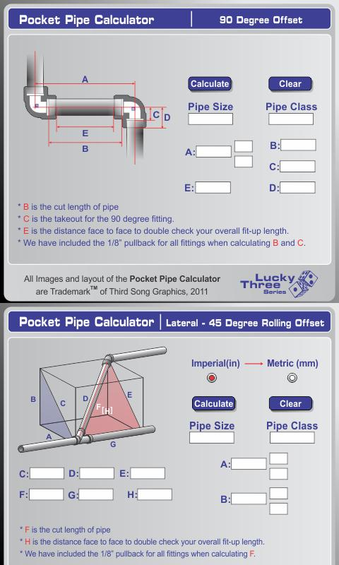 Socket Pipe Calculator- screenshot