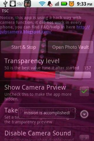 Spy Camera Like Transparent - screenshot