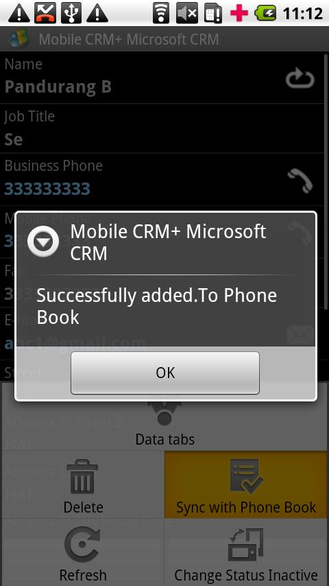 Contact Manager MS CRM- screenshot