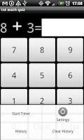 Screenshot of tnt math quiz