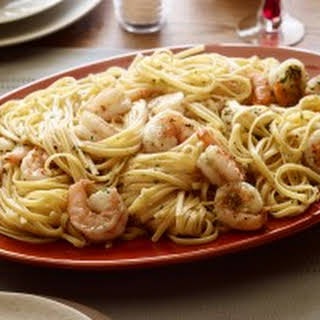 Shrimp Scampi with Linguini.