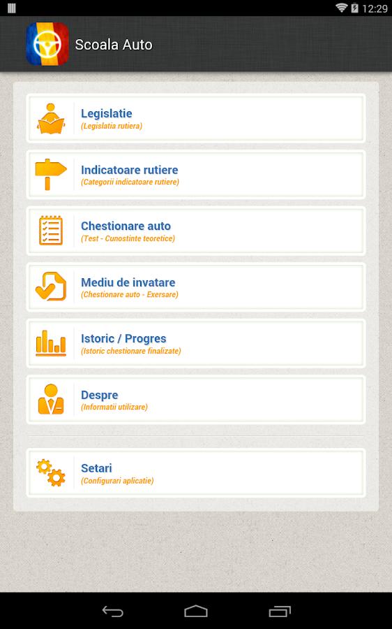 Scoala Auto - Chestionare Auto - screenshot