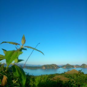 another morning view of Labuan Bajo by Bayu Freze - Instagram & Mobile Android ( landscape morning travel )