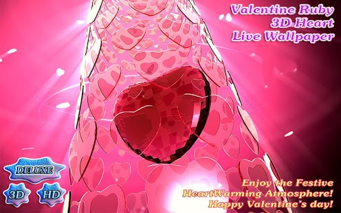 Valentine's Day Ruby Heart 3D- screenshot thumbnail