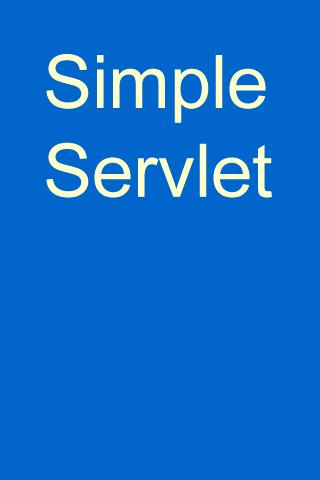 Simple Servlet- screenshot