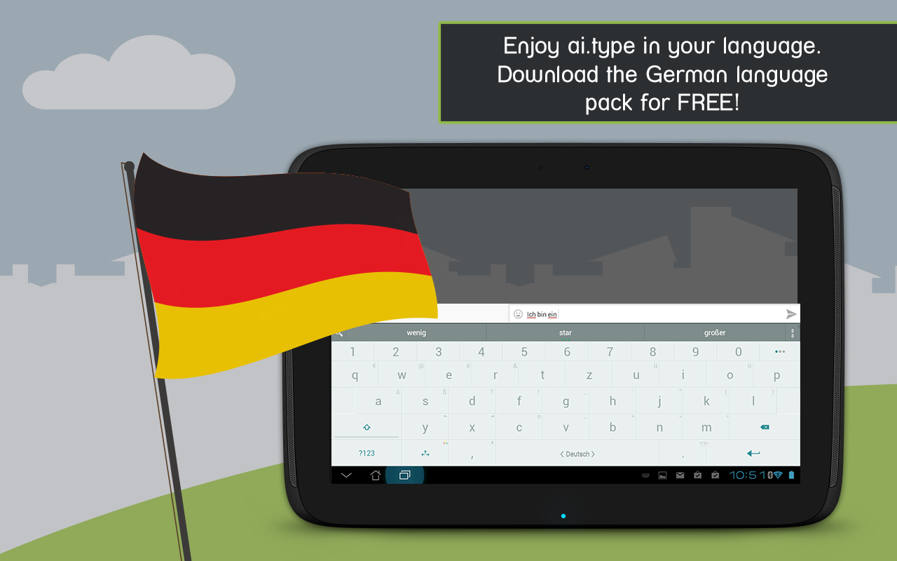 German for ai.type Keyboard - screenshot