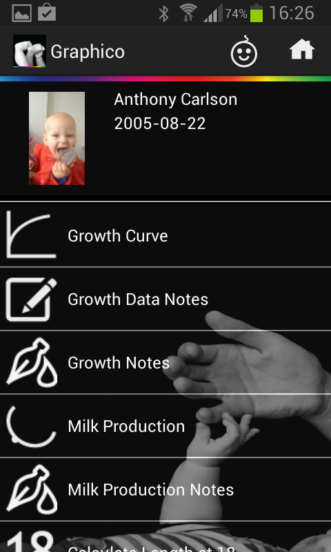 Graphico Baby Growth Charts- screenshot