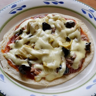 Mexican Flatbread Tuna Pizza.