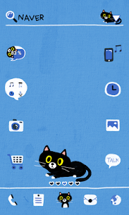 Black Cat dodol launcher theme