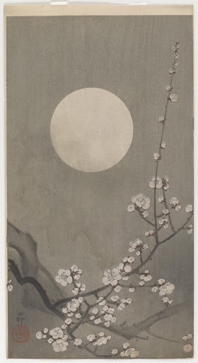 Flowering plum and moon