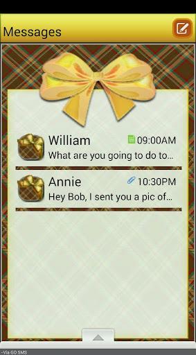 PlaidBows GO SMS THEME