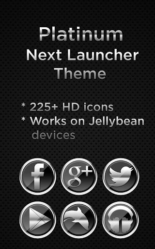 Next Launcher Platinum Theme