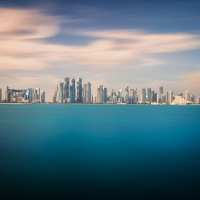 The Modern World by Agha Rafay - Landscapes Waterscapes ( blue sky, colors, seascapes, sea, blue water, seaside, landscapes )