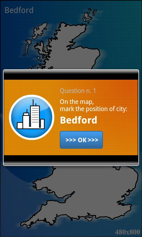 UK geography map quiz - BETA - screenshot