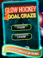 Screenshot of Glow Hockey 2 Goal Craze