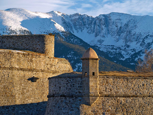 The fortified citadel of Mont-Louis in the Pyrénées-Orientales department in southern France.