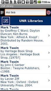 UNR Library- screenshot thumbnail