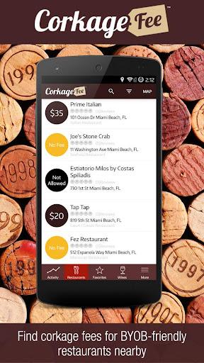 CorkageFee - Wine App - BYOB