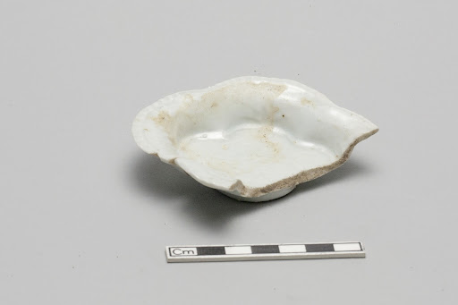 Small four-lobed diamond-shaped molded dish